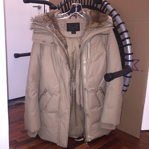 Mackage down parka coat with fur hood never worn