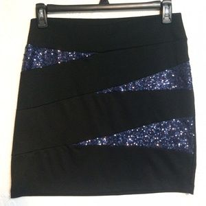 Maurices Sparkly Bandage Skirt