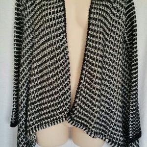 Vertigo Paris Sweaters - Black White Vertigo Paris S M Open Front Cardigan