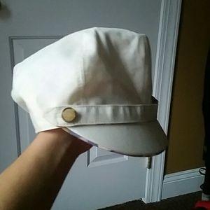 Accessories - Cream Badgley Mischka hat