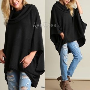 Boutique Sweaters - Plus size oversized poncho style sweater new sexy