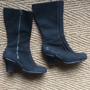 timberland wedge heel boots on poshmark