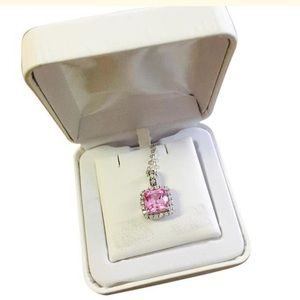 Jewelry - NWT Pink Sapphire Sterling Silver 18""
