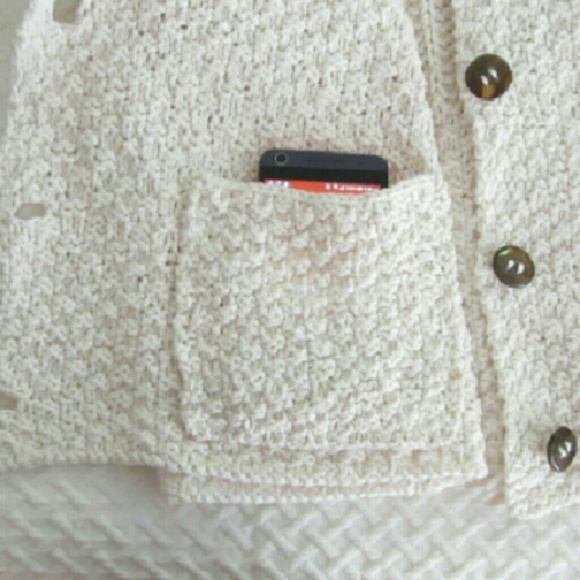 Petit Poix Sweaters - Winter White Knit Cardigan Coat Plus Size NWOT