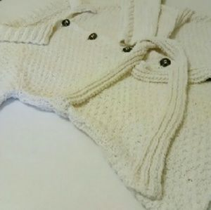 SOLD Winter White Knit Cardigan Coat Plus Size