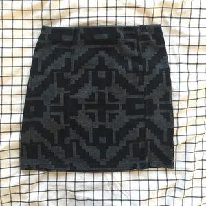 Topshop PETITE Dresses & Skirts - Top Shop Petite Mini Skirt, Black Aztec US 2