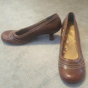 Brown Heels with small heel