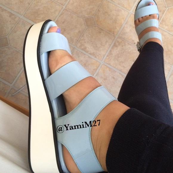 Forever 2 Light Blue Platform Sandals