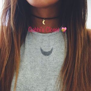 October Love Jewelry - 🌙 Crescent Moon Choker Necklace🌙