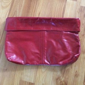 Handbags - Vintage Red Faux Leather Clutch
