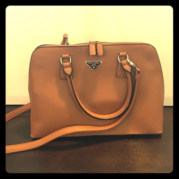 d0e38af52157 Prada Saddle brown leather bowling purse. M_580a3875522b4559c8006ae2