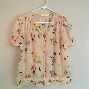 Pins & Needles Tops - Pins and Needles Colorful Blouse