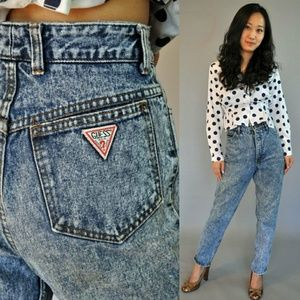 Guess Denim - GUESS JEANS ACID WASH WITH LEG ZIP VINTAGE