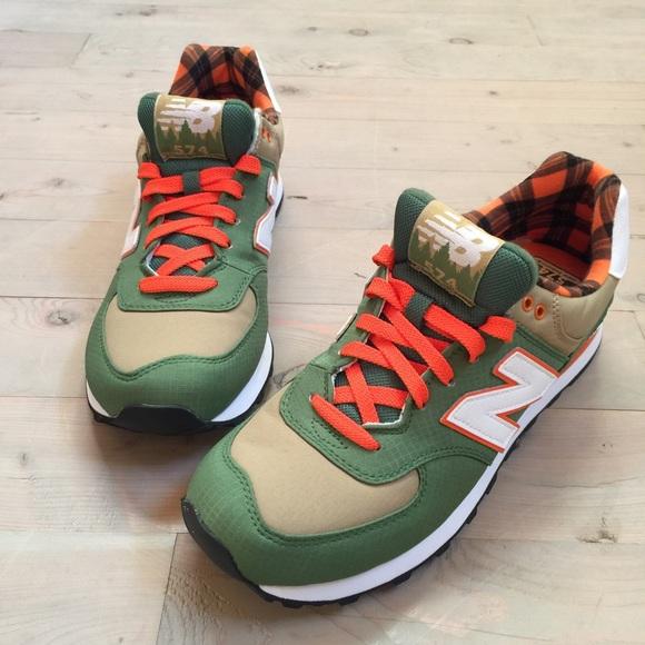 44aa2a8749429 New Balance Shoes   Mens 574 Camper Casual Sneaker Plaid   Poshmark
