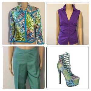 Harve Benard Jackets & Blazers - Colorful swing jacket