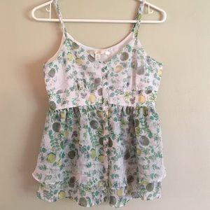 LC Lauren Conrad Tops - Lemon and Lime Print Top