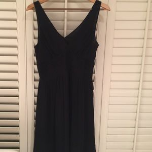 Express Black Silk Halter Dress