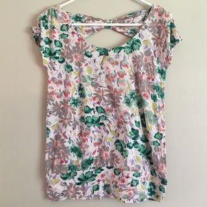 LC Lauren Conrad Tops - Soft Jersey Floral T-Shirt