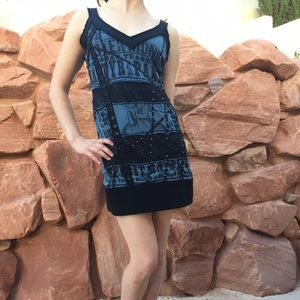 Salvage Dresses & Skirts - Salvage Blue and Black Mini Dress