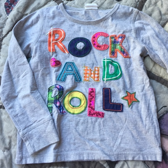 Mini Boden Shirts Tops Girls Rock Roll Long Sleeve Tee 56 Poshmark