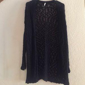 Black oversized sweater cardigan