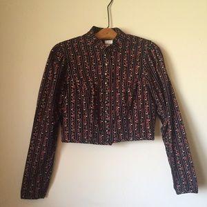 Vintage cropped blazer/jacket.  EUC. Floral