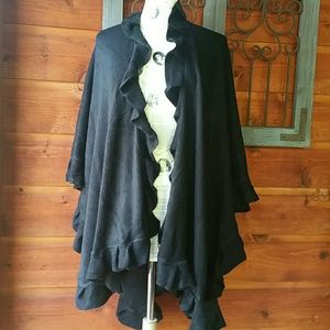 Accessory Collective Sweaters - Black shrug wrap one size fits all