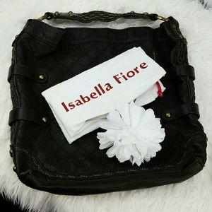 Isabella Fiore Handbags - 💞SALE💞 Isabella Fiore Black Leather Hobo Bag