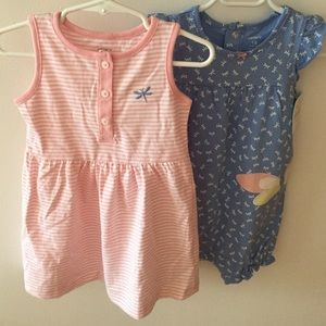 Carter's Other - BUNDLE Carter's 2-Piece Dress & Romper Set Bundle.