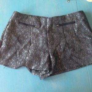 Pants - Silver shorts