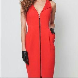 Eva Franco Dresses & Skirts - 🎉HP🎉 Eva Franco Orange Zipper Dress