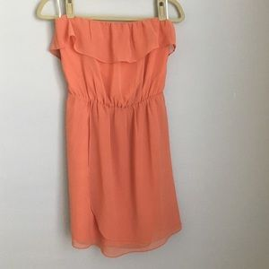 MM Couture Dresses & Skirts - MM Couture Coral Strapless Chiffon Dress