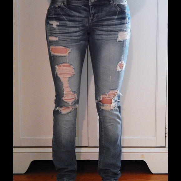 Rue21 Jeans - Premiere Denim by Rue 21 Distressed Jeans Sz 3/4