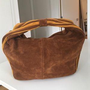 alberta di canio Handbags - Beautiful & Retro brown suede large hobo w/ stripe