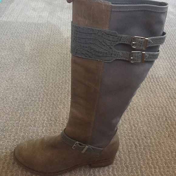 Cole Haan Shoes - Cole Haan Nike Air women s grey riding boots 5fecac7def