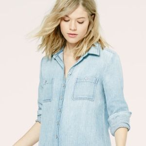 Loft Lou & Grey Double Indigo Shirtdress