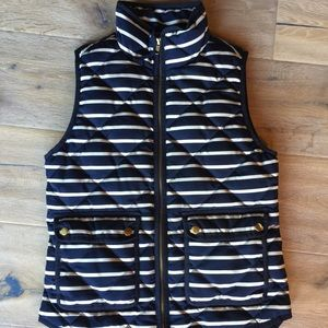 J. Crew puffer vest! Oh so warm and stylish