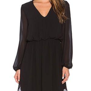 Wayf V Neck Dress in Black XS