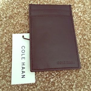 Cole Haan Other - NWT Cole Haan Card Case with Money Clip