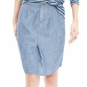 Banana Republic Dresses & Skirts - Banana Republic Chambray Shirt Tail Skirt