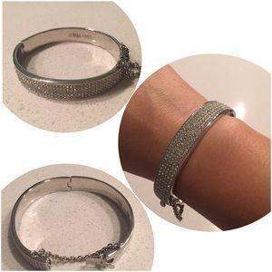Jewelmint Silver Pave Bracelet
