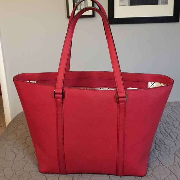 66% off kate spade Handbags - Kate Spade Large Red Saffiano ...