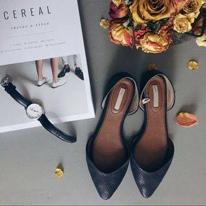 H&M Black D'Orsay Flat Shoes