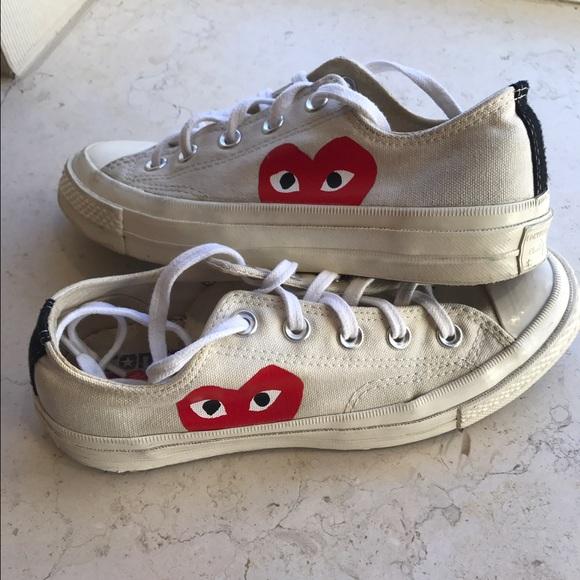 2460c126eeea Comme des Garcons Shoes - Comme Des Garçon PLAY x Converse Low Top Sneaker