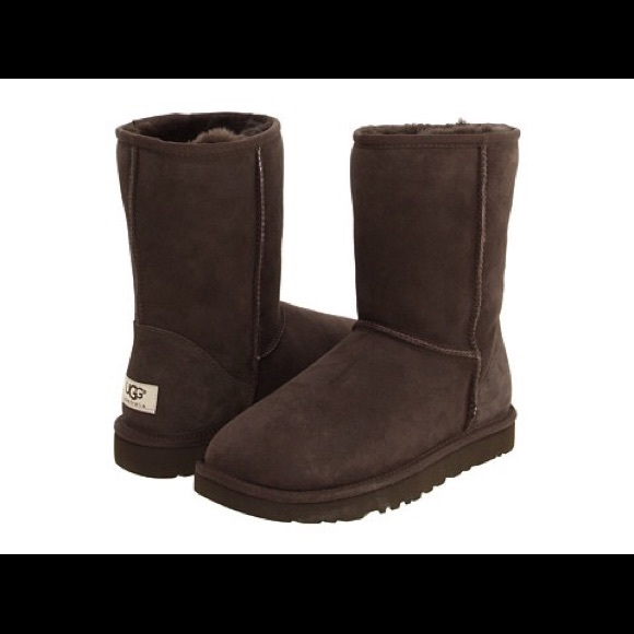 ugg classic short dark brown