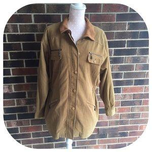 Jackets & Blazers - Vintage Utility Jacket in Tan