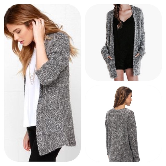 d531e4a1e01040 Obey Women s Grey Knit Cardigan NWT (XS)
