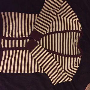 Loft Fashion Sweaters - 🌟Final Price Cut🌟Loft stripe v-neck cardigan