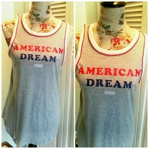 PINK Victoria's Secret Tops - Victoria's Secret PINK American Dream LMT Heather