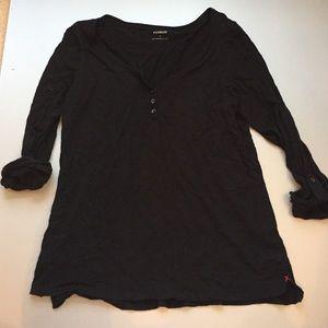 Express Tops - Express black 3/4 sleeve shirt